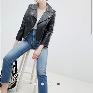 ASOS Leather Jacket US 4